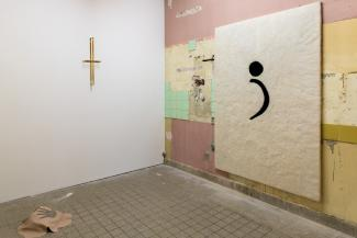 What Remains is What the Poets Found, Installation view. Works by Tarik Kiswanson, Elif Erkan, and Nona Inescu.